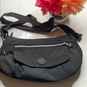 Kipling black crossbody nylon bag